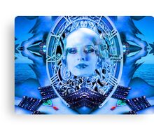 Clockwork Blue Canvas Print