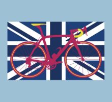 Bike Flag United Kingdom (Blue) (Big - Highlight) Kids Tee