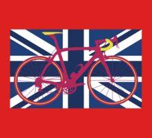 Bike Flag United Kingdom (Blue) (Big - Highlight) Kids Clothes