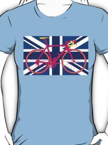 Bike Flag United Kingdom (Blue) (Big - Highlight) T-Shirt