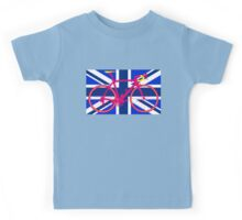 Bike Flag United Kingdom (Blue) (Big - Highlight) Kids Tee