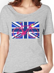 Bike Flag United Kingdom (Blue) (Big - Highlight) Women's Relaxed Fit T-Shirt