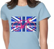 Bike Flag United Kingdom (Blue) (Big - Highlight) Womens Fitted T-Shirt