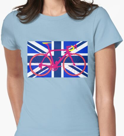Bike Flag United Kingdom (Blue) (Big - Highlight) Womens Fitted T-Shirt