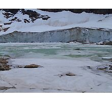 Glacier, Jasper National Park, Canada Photographic Print