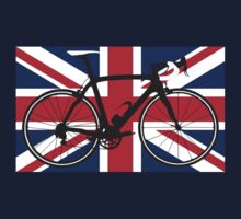 Bike Flag United Kingdom (Big - Highlight) One Piece - Short Sleeve