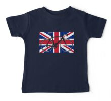 Bike Flag United Kingdom (Big - Highlight) Baby Tee