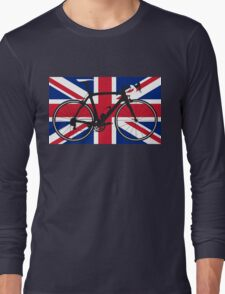 Bike Flag United Kingdom (Big - Highlight) Long Sleeve T-Shirt