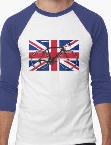Bike Flag United Kingdom (Big - Highlight) Men's Baseball ¾ T-Shirt