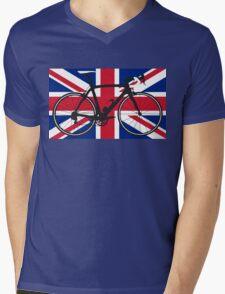 Bike Flag United Kingdom (Big - Highlight) Mens V-Neck T-Shirt