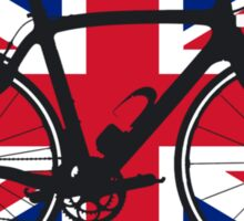 Bike Flag United Kingdom (Big - Highlight) Sticker