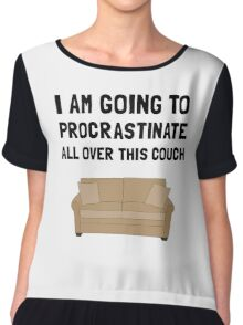 Procrastinate Couch Chiffon Top