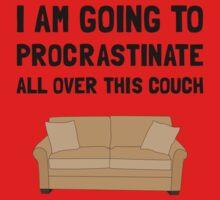 Procrastinate Couch One Piece - Short Sleeve
