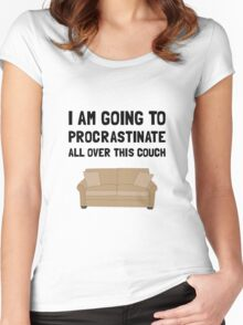 Procrastinate Couch Women's Fitted Scoop T-Shirt