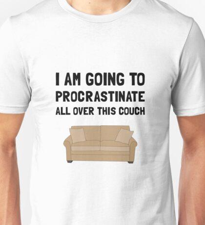 Procrastinate Couch Unisex T-Shirt