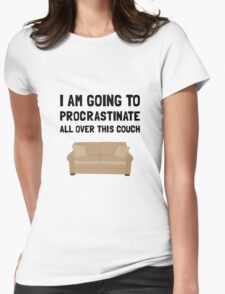 Procrastinate Couch Womens Fitted T-Shirt