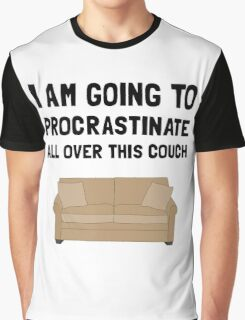 Procrastinate Couch Graphic T-Shirt