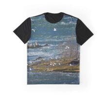 Seagull's Flock - Hells Half Acre | Niagara Falls, New York Graphic T-Shirt