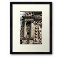 Stonework on San Francisco Church Framed Print