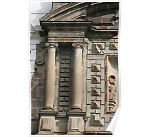 Stonework on San Francisco Church Poster