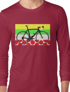 Bike Tour de France Jerseys (Horizontal) (Big - Highlight) Long Sleeve T-Shirt