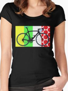 Bike Tour de France Jerseys (Vertical) (Big - Highlight)  Women's Fitted Scoop T-Shirt