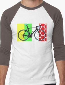 Bike Tour de France Jerseys (Vertical) (Big - Highlight)  Men's Baseball ¾ T-Shirt