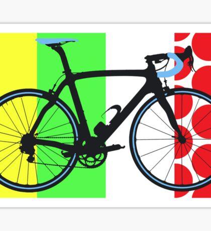 Bike Tour de France Jerseys (Vertical) (Big - Highlight)  Sticker