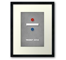 red, white and blue - TRUMP 2016 Framed Print