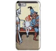 John R. Neill - Dorothy With Scarecrow And Tin Woodman. Girl portrait: cute girl, girly, female, pretty angel, child, beautiful dress, face with hairs, smile, little, kids, baby iPhone Case/Skin