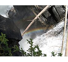 Rainbows, Mountains, Waterfall, Jasper National Park, Canada Photographic Print