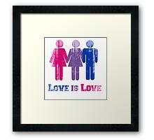 BISEXUAL LOVE IS LOVE Framed Print