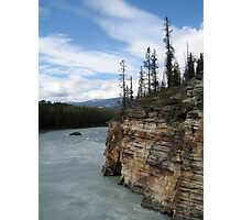 Mountains, River, Jasper National Park, Canada Photographic Print