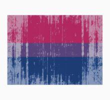 BISEXUAL PRIDE FLAG DISTRESSED by lgbtdesigns
