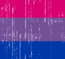 BISEXUAL PRIDE FLAG DISTRESSED Sticker