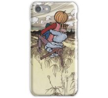 John R. Neill - The Scarecrow And Jack Pumpkinhead Riding The Saw-Horse. Child portrait: cute baby, kid, children, pretty angel, kids, lovely family, boys and girls, boy and girl, mom, childhood iPhone Case/Skin