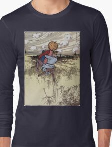 John R. Neill - The Scarecrow And Jack Pumpkinhead Riding The Saw-Horse. Child portrait: cute baby, kid, children, pretty angel, kids, lovely family, boys and girls, boy and girl, mom, childhood Long Sleeve T-Shirt