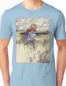 John R. Neill - The Scarecrow And Jack Pumpkinhead Riding The Saw-Horse. Child portrait: cute baby, kid, children, pretty angel, kids, lovely family, boys and girls, boy and girl, mom, childhood Unisex T-Shirt