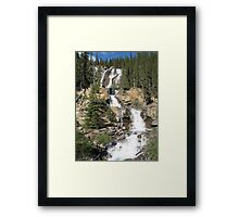 Waterfall, Jasper National Park, Canada Framed Print