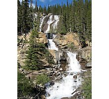 Waterfall, Jasper National Park, Canada Photographic Print