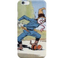 John R. Neill - The Scarecrow Swinging A Croquet Mallet. Child portrait: cute baby, kid, children, pretty angel, child, kids, lovely family, boys and girls, boy and girl, mom mum mammy mam, childhood iPhone Case/Skin