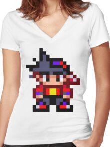 Pixel Beyblade Tyson Women's Fitted V-Neck T-Shirt