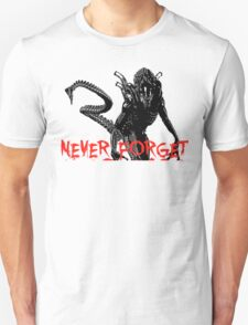 """NEW* ALIEN: ISOLATION MERCHANDISE... """"NEVER FORGET YEAR 2137"""" T-Shirt"""
