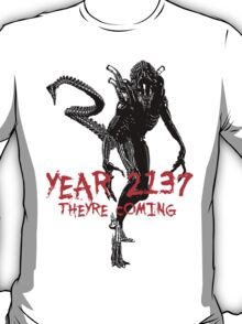 "NEW* ALIEN: ISOLATION MERCHANDISE... ""YEAR 2137 NEVER FORGET"" T-Shirt"