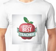 World's Best teacher apple icon Unisex T-Shirt