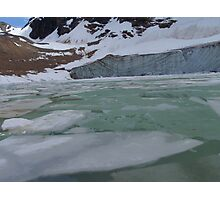 Mountains, Glacier, Ice, Jasper National Park, Canada Photographic Print