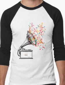 Music for my ears retro style Men's Baseball ¾ T-Shirt