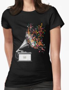 Music for my ears retro style Womens Fitted T-Shirt