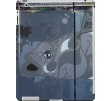 Grey White Graffiti Fish iPad Case/Skin