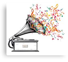 Music for my ears retro style Canvas Print